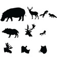 silhouette icon animal on white white backgro vector image vector image