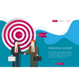 two business men shaking hands to seal a deal vector image vector image