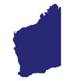 western australia state silhouette vector image vector image