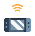 wifi game device flat vector image