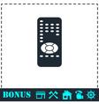 Remote control icon flat vector image