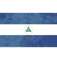 True proportions Nicaragua flag with texture vector image
