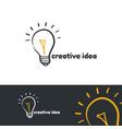 creative idea logo template vector image