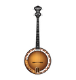 A beautiful brown banjo on white background vector | Price: 1 Credit (USD $1)