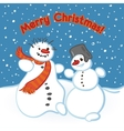 a snowman vector image vector image