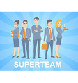a super business team of young business p vector image vector image