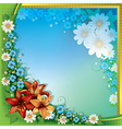 abstract spring floral background with orange vector image vector image