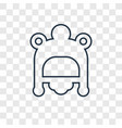 baby hat concept linear icon isolated on vector image