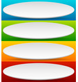 badge button banner set in 4 bright color with vector image vector image