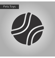 black and white style icon dog toy ball vector image vector image