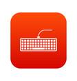 black computer keyboard icon digital red vector image vector image