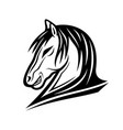 black horse sign vector image