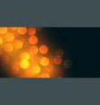 bokeh background design with yellow light effect vector image vector image