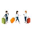 business trip concept businesswomen vector image vector image