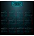 Calendar 2015 Dark style vector image vector image