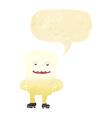 cartoon tooth looking smug with speech bubble vector image vector image