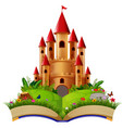 castle in the storybook vector image