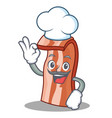 chef bacon character cartoon style vector image vector image