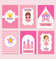 child happy birthday and princess party pink vector image