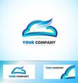 Cloud computing logo icon vector image
