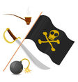 Collection of pirate attributes vector | Price: 3 Credits (USD $3)