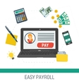 concept easy online payroll operation vector image vector image