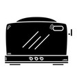 contour technology toaster electric kitchen vector image