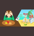 credit problem horizontal banner cartoon style vector image
