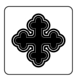 Cross icon on white background vector image vector image