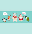 cute fun new year characters vector image