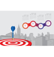 dart aiming at the business target business vector image vector image