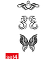Decorative Tribal tattoos set4