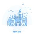 disney land blue landmark creative background and vector image