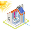 Energy Chain 06 Building Isometric vector image vector image