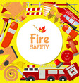 fire safety round pattern vector image
