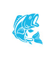 fish icon design template isolated vector image vector image