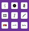 flat icon component set of input technology vector image vector image