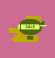 flat icon of air balloon sale vector image vector image