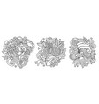 germany cartoon doodle designs set vector image vector image