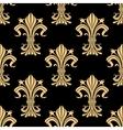 Golden victorian fleur-de-lis seamless pattern vector image vector image