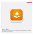 hands holding house icon orange abstract web vector image