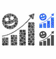happy growing trend composition icon round dots vector image vector image