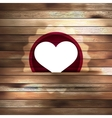 Heart in wood card template EPS 10 vector image vector image