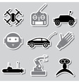 hi-tech modern technology toys simple stickers vector image vector image