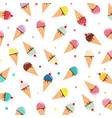 ice cream cone pastel color pattern on white vector image