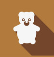 icon teddy bear toy with a long shadow vector image