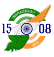Indian Independence Day label or print with vector image vector image