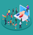 isometric promotion concept marketing and vector image