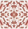 kilim geo seamless pattern in terra cotta colors vector image vector image