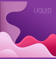 liquid background vector image vector image